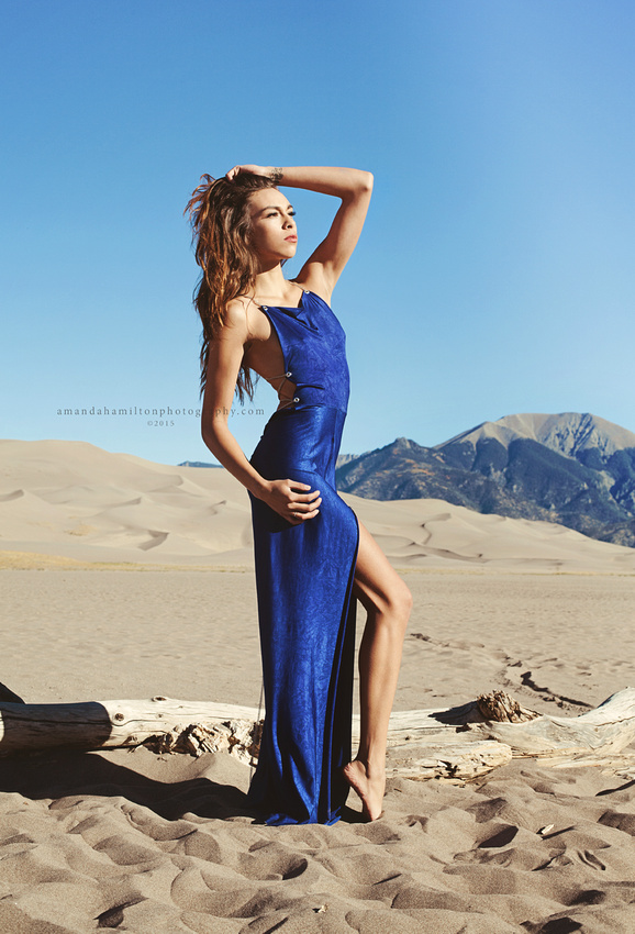 Amanda Hamilton Photography ©2015 Blue evening dress provided by S&K Custom Clothing in Denver, CO Denver Colorado Springs fashion photographer Amanda Hamilton Photography